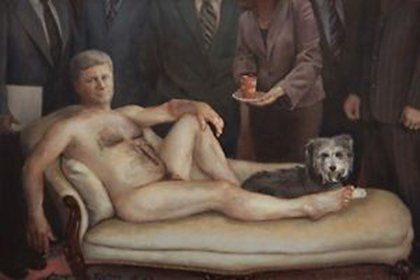 Emperior Haute Couture painting of Stephen Harper is for sale on Kijiji.