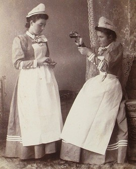 Early Nurse uniform- thank goodness things have changed!