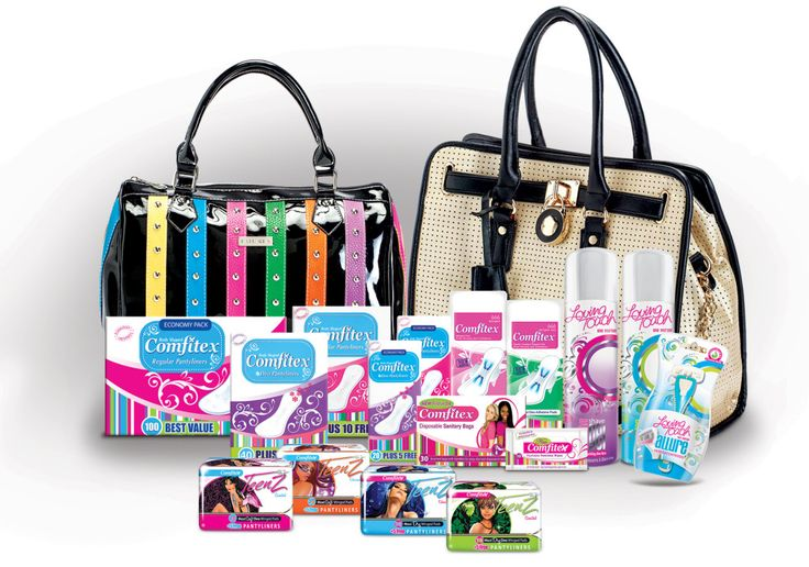 A prize for mom and daughter where they will each win themselves a designer La Perala Handbag with Comfitex and Comfitex Teenz products.