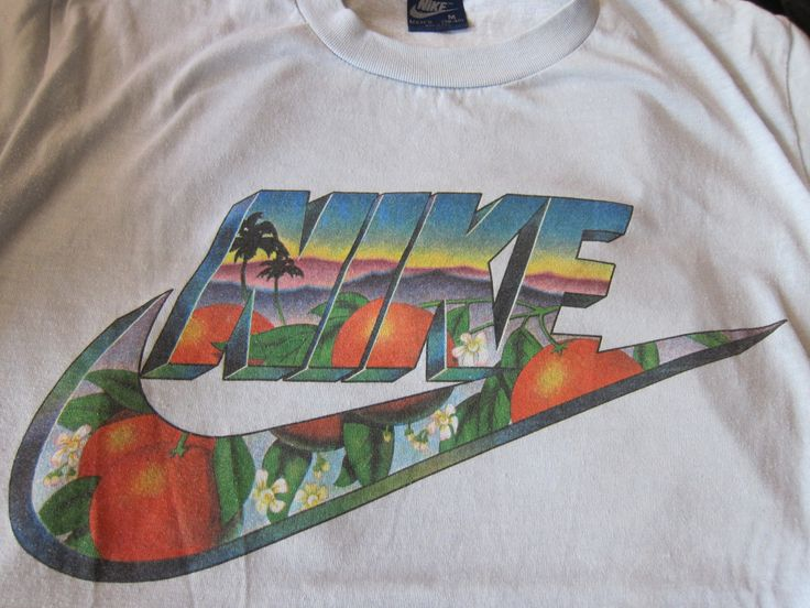 zone7stylenyc:    Vintage Nike California Orange Grove Swoosh Block Letters T-shirt