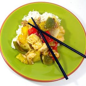 VERY FAST and EASY Sweet and Sour Chicken using rotisserie chicken uses fresh pineapple and is different than usual take out but WOW OT IS A WINNER