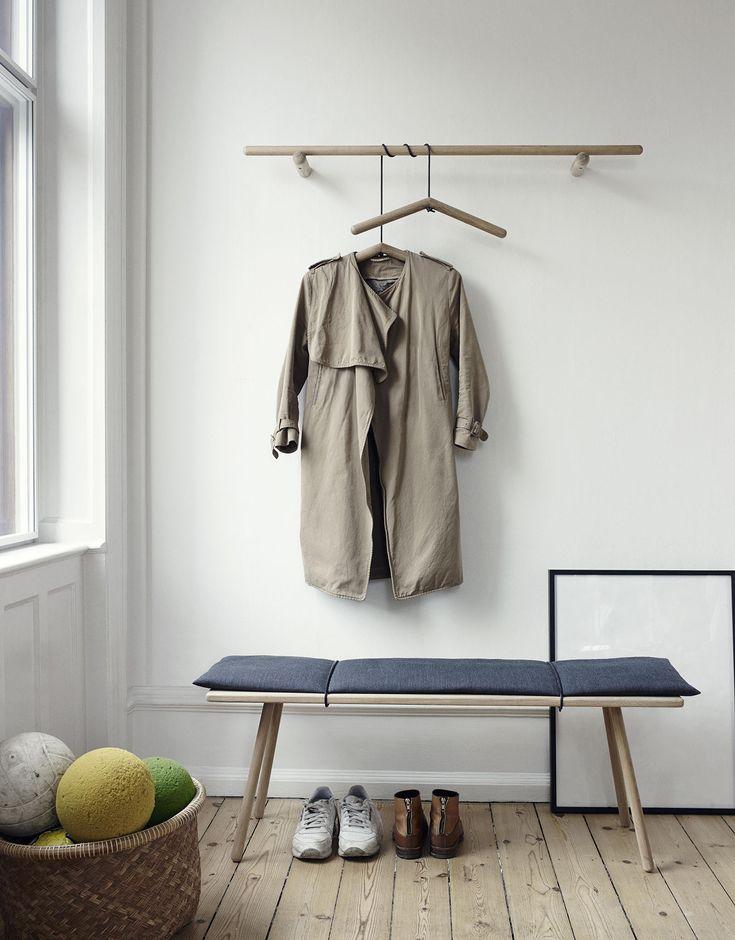 Simple bench seat. DesignTrade Copenhagen Interiors Trends For Fall/Winter 2014