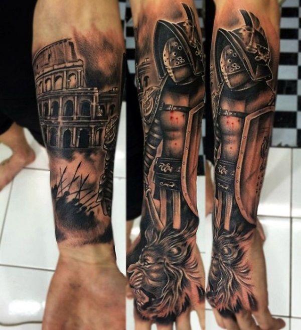 Valiant Gladiator Tattoo Designs (33)
