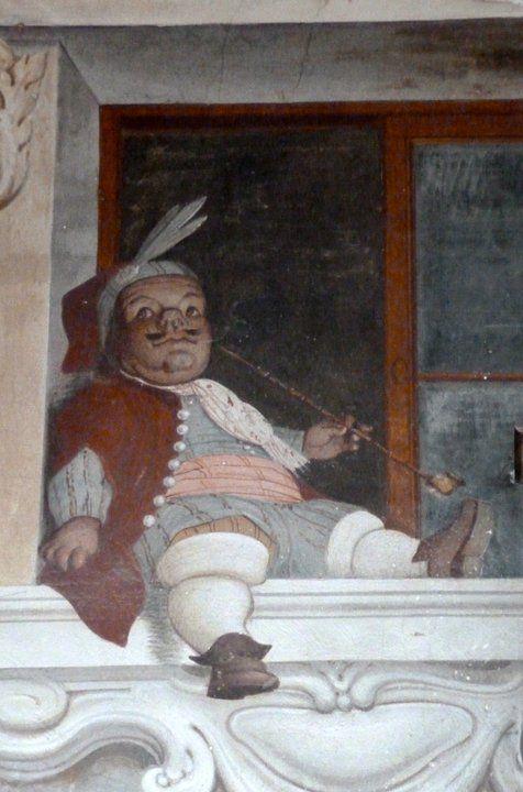 Venezia, Ca' Zenobio, La sala degli Specchi, Il nano