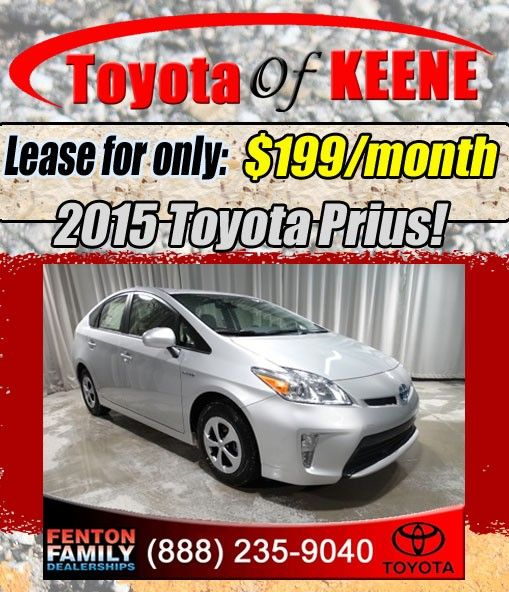 New 2015 Toyota Prius Lease Special at Toyota of Keene, NH!