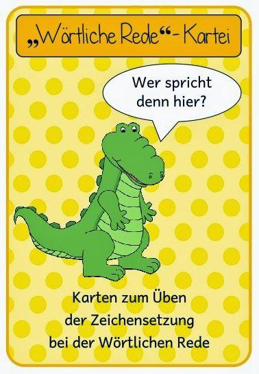 Deutsch in der Grundschule: wörtliche Rede Kartei