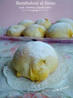 Bomboloni al forno con crema pasticcera ricetta - soffici bomboloni ripieni di crema - wings of sugar blog