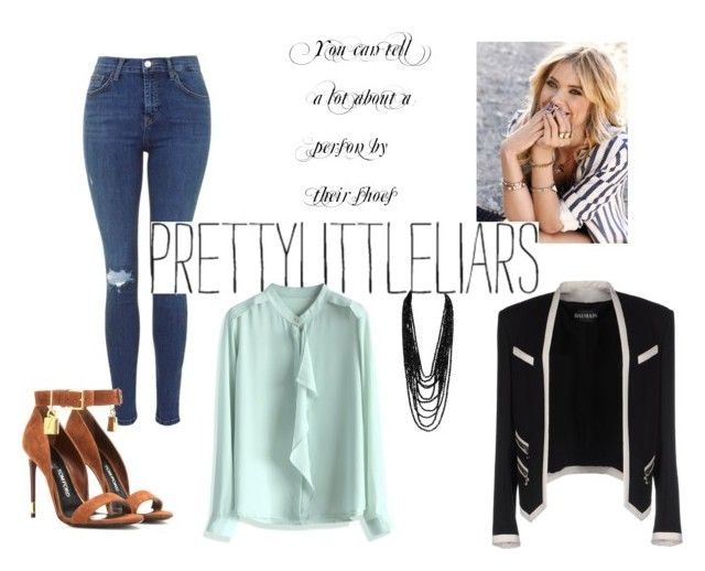 """""""Hanna's Pretty Secret"""" by sandigs on Polyvore featuring Tom Ford, Chicwish, Balmain and pll"""