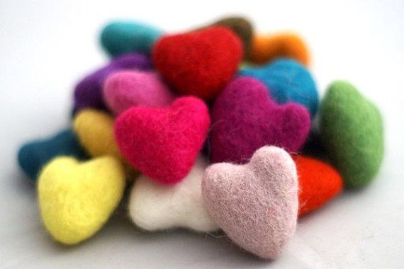 Check out this item in my Etsy shop https://www.etsy.com/listing/264961751/10-pieces-x-felt-hearts-handmade