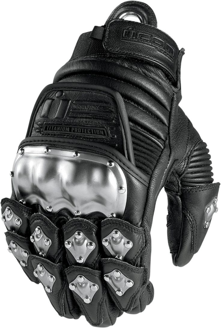 Buy leather motorcycle gloves - Icon Timax Original Leather Motorcycle Gloves