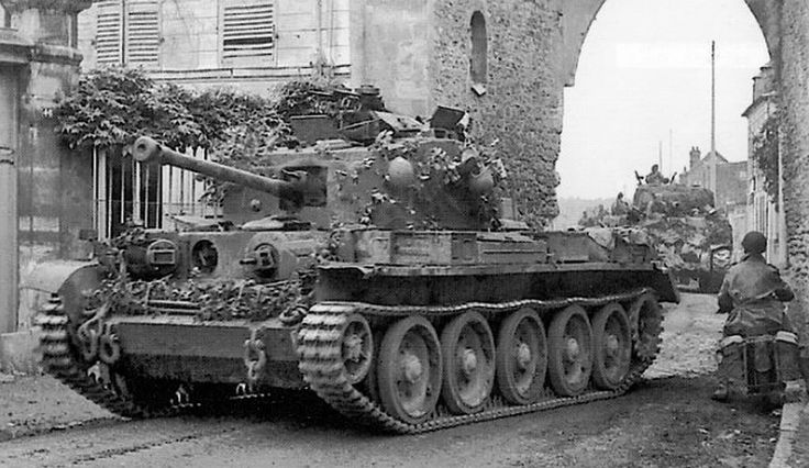 Tank, Cruiser, Mk VIII, Cromwell (A27M),[nb 1] and the related Centaur (A27L) tank, were one of the most successful series of cruiser tanks fielded by Britain in the Second World War. The Cromwell tank, named after the English Civil War leader Oliver Cromwell, was the first tank put into service by the British to combine a dual-purpose gun, high speed from the powerful and reliable Meteor engine, and reasonable armour, all in one balanced package. Its design formed the basis of the Comet…