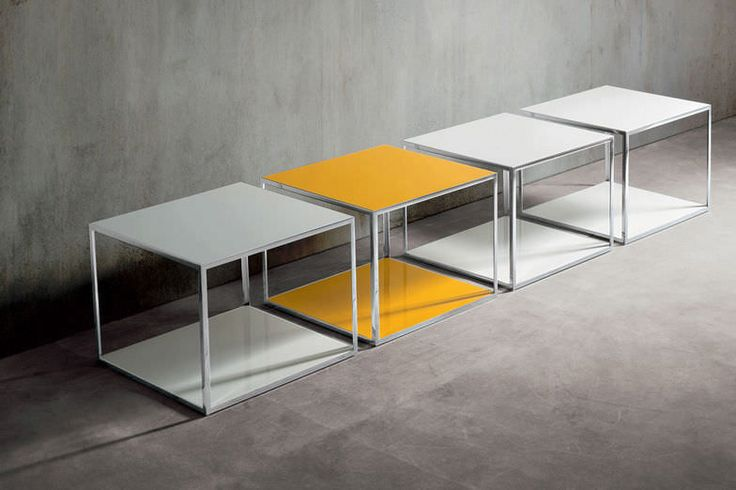 SIDE TABLE / CONTEMPORARY / METAL / LACQUERED