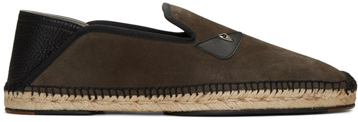FENDI Brown Suede Bag Bug Espadrilles. #fendi #shoes #bug