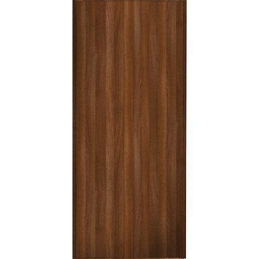 Wickes Sliding Wardrobe Door Walnut Frame & Panel | Wickes.co.uk