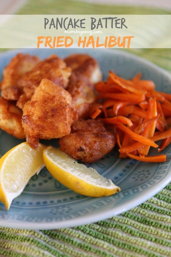 Pancake batter fried halibut pancakes for Halibut fish recipes