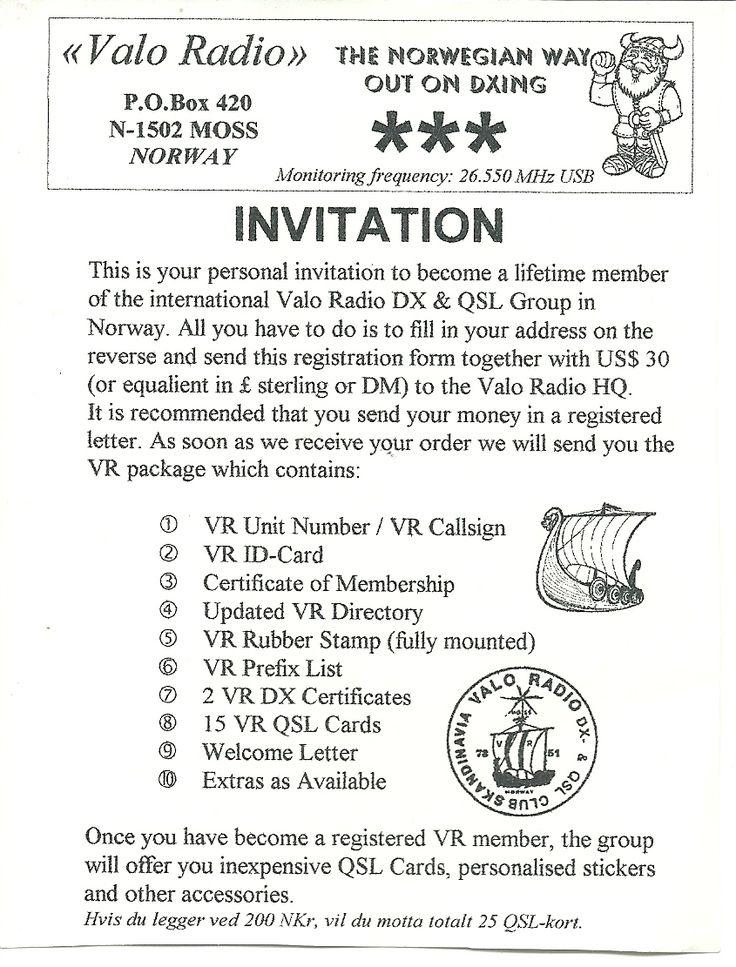 Invitation  VR