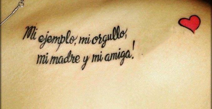Frases Cortas Para Una Madre Para Tatuar La Vida Pinterest