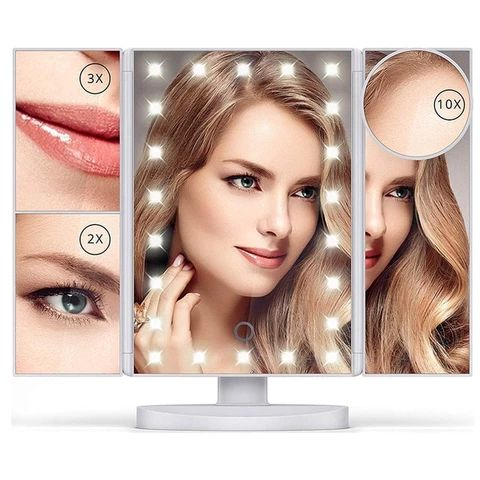 22 LED Lights Makeup Mirrors Touch Screen 1X 10X