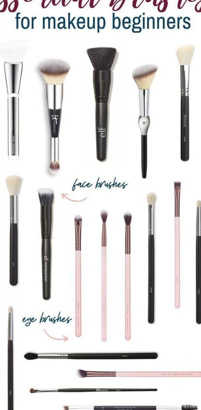 Makeup Tools For Beginners Makeup Tools Beginners Make Up Tools F R Anf Nger O In 2020 Essential Makeup Brushes Makeup Brushes Guide Affordable Makeup Brushes
