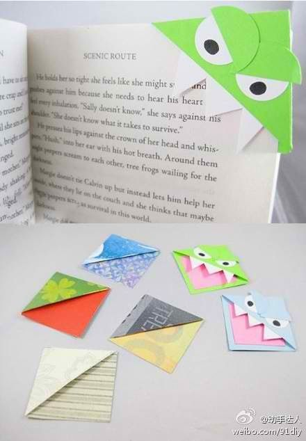 Cool bookmarks for the home pinterest for Cool ways to make bookmarks