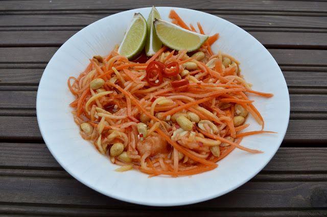 Viikonloppukokki: Som Tam eli thaimaalainen papaijasalaatti lääke ma...