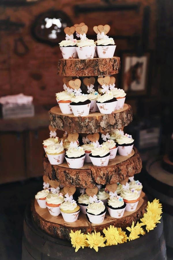 3 tier Cupcake Stand Rustic Wooden Cupcake Stand Country Wedding cake