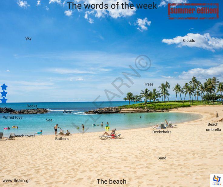 The beach.   #Αγγλικά #αγγλικές #λέξεις #αγγλική #γλώσσα #λεξιλόγιο #English #english #words #english #language #vocabulary #LLEARN