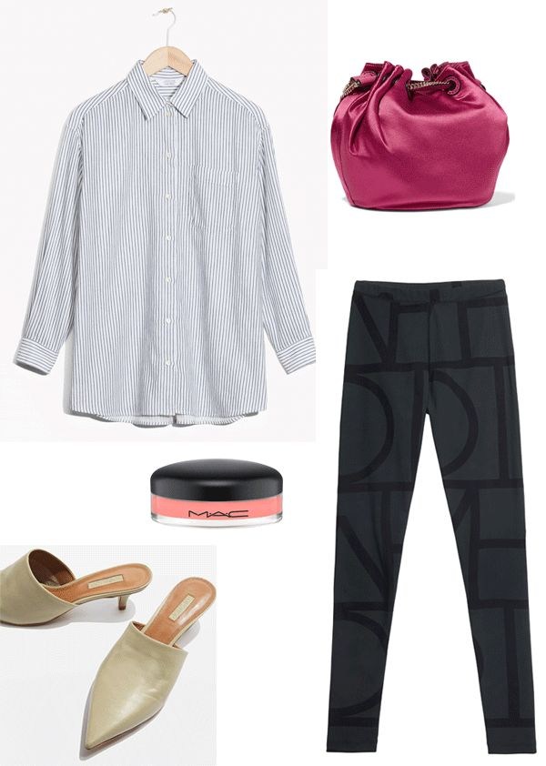 Mood of summer in the city 2017 http://gabriellalundgren.com/mood-of-summer-in-the-city-2017 The perfect look for a summer in the city. Tights from Toteme, shirt from And Other Stories, lipgloss from Mac, bag from Dvf, Kitten heels mules from Topshop.