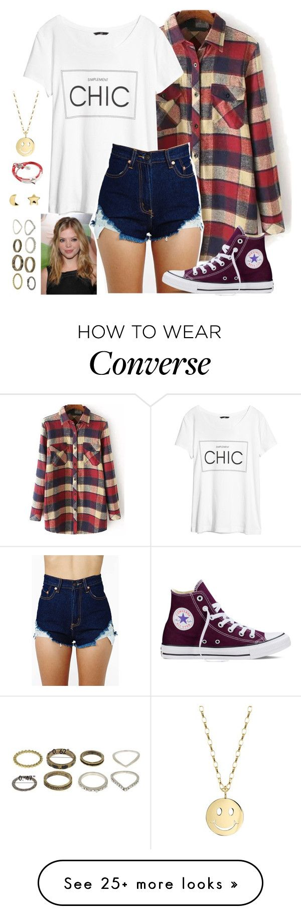 """six hundred and twenty nine"" by jamie-e-s on Polyvore featuring H&M, Converse, Sydney Evan, Lizzy James and Erica Weiner"