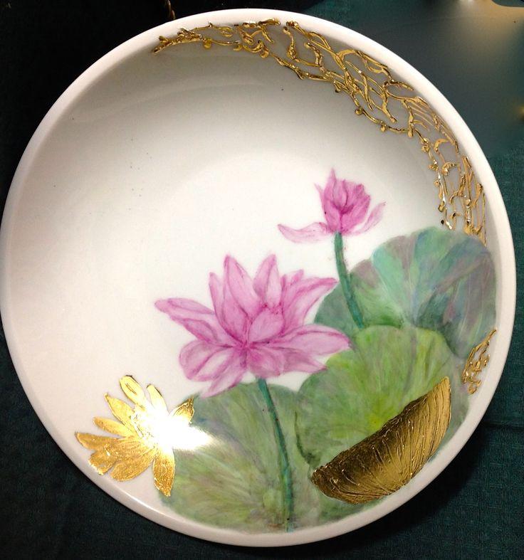 Jillian Varga Water lily with texture.