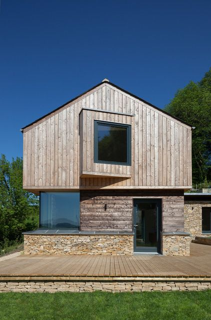 Wood eco-house - Contemporary Exterior by Millar Howard Workshop