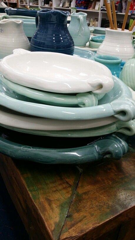 Tony Sly Ceramics oval platter with handles