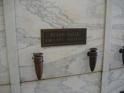Clark Gable. It's tough to get in to see him, so I thought this was worth pinning. He is adjacent to Carole Lombard.
