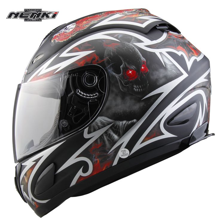 ==> [Free Shipping] Buy Best NENKI Devil FF802 Motorcycle Full Face Helmet Capacete da Motocicleta Cascos Moto Casque Kask Men Helm Riding Racing Helmets Online with LOWEST Price | 32782366026