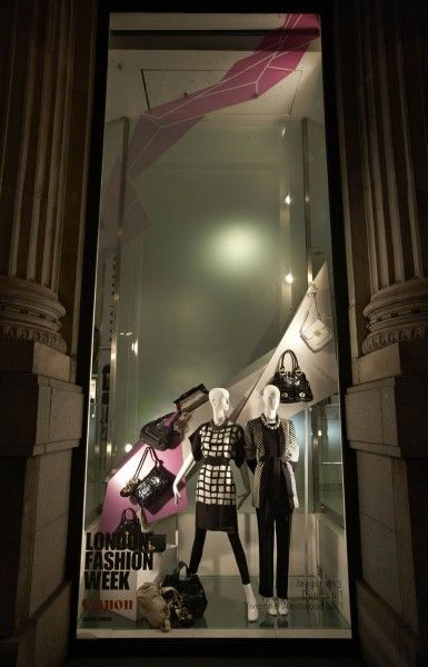 Prop Studios for House of Fraser: Spring 2010.  Prop Studios designed & created Cubist-inspired window sculptures consisting of a flow of geometric shapes travelling from window to window in 46 windows across the Top 10 House of Fraser stores.