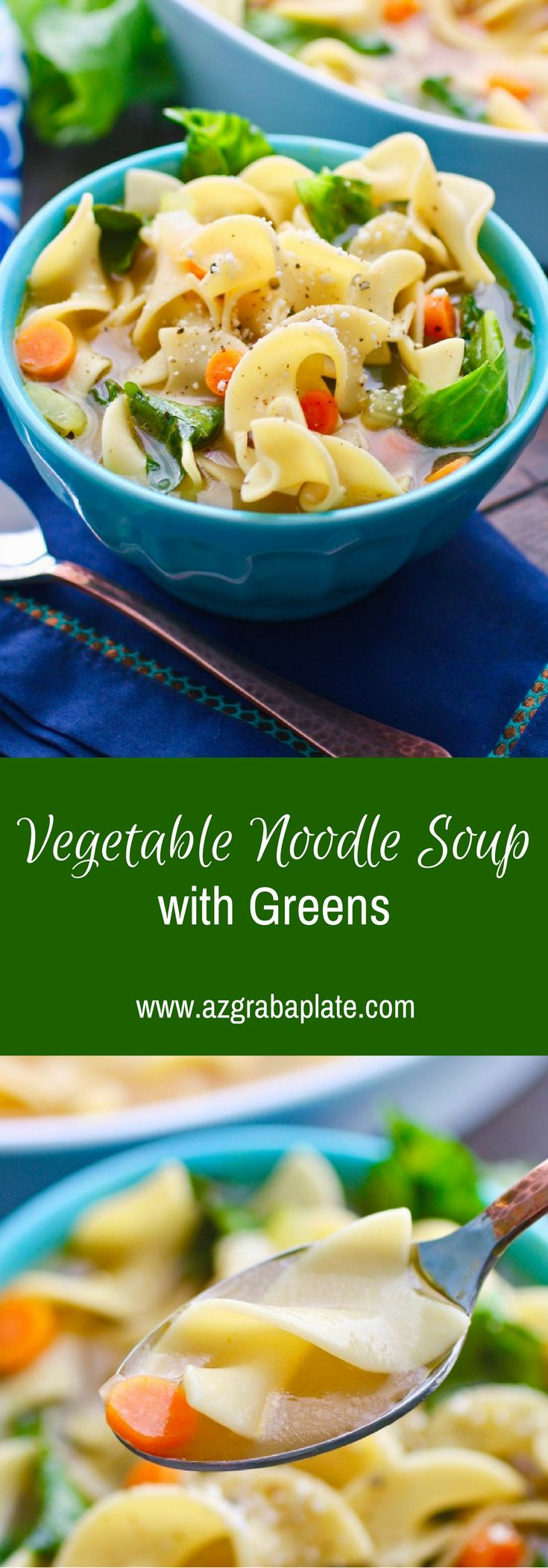 Under the weather? If you are, a bowl of Vegetable Noodle Soup with Greens can help. And if you're well, you'll still enjoy this easy-to-make, tasty soup!
