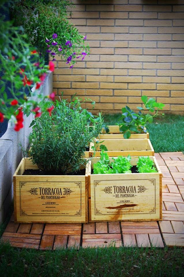 Come riutilizzare le cassette in legno dei vini Torraccia del Piantavigna per creare degli splendidi orti