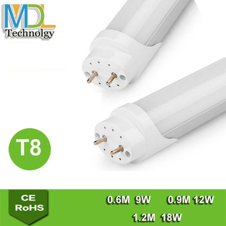 Find More LED Bulbs & Tubes Information about LED T8 tube 600mm 900mm 1200mm fluorescent tube light 9w 12w 18w AC110v 265v led lamp smd 2835 led lighting tube t8 2ft 3ft 4ft,High Quality LED Bulbs & Tubes from Shenzhen MDL Technology Co.,Ltd on Aliexpress.com