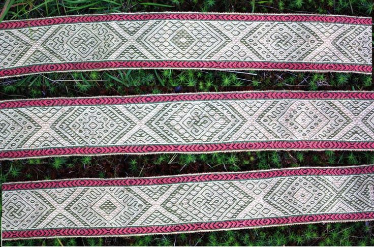 Tablet weaving. original pattern by Louise Ström