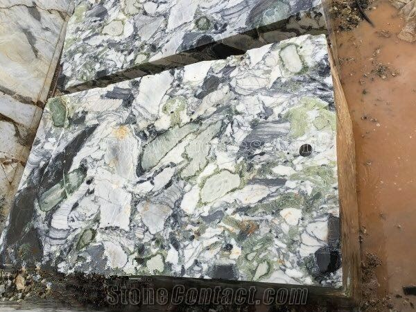 China White Beauty Marble Block Ice Green Marble Block