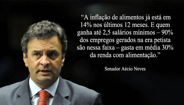 Aécio Neves combate à inflação