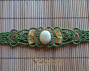 Macrame bracelet Tierra y Libertad with by MahakashiCreations