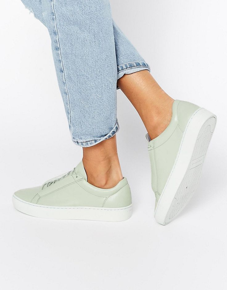 Vagabond+Zoe+Leather+Mint+Green+Trainers