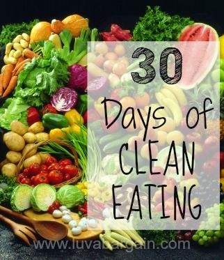 30 Days of Clean Eating Challenge - Luv A Bargain
