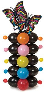Quick Link Butterfly Column Balloon Design Recipe from the Balloons.com Idea Kitchen