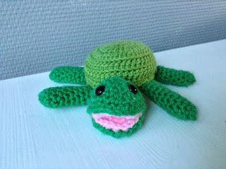 Crochet turtle - gehaakte schildpad