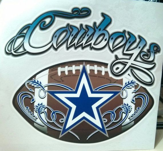 Dallas Cowboys Football window decal by JuiceCollection on Etsy, $17.99