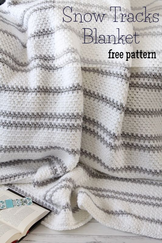 Free Crochet Pattern} Snow Tracks Blanket | Crochet | Pinterest