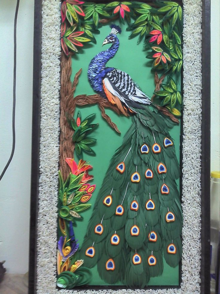how to make paper quilling peacock step by step