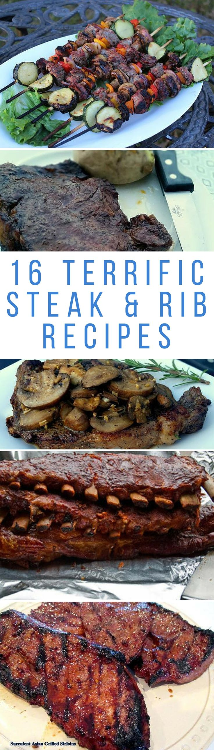 Treat dad to one of these 16 terrific steak and rib recipes this Father's Day.